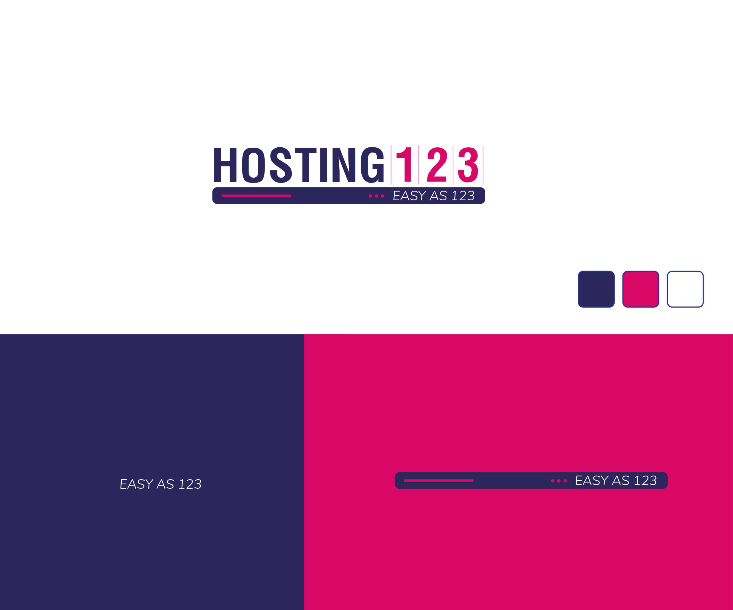 Branding project for hosting 123